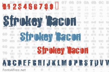 Strokey Bacon Font