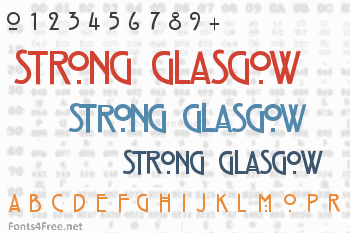 Strong Glasgow Font