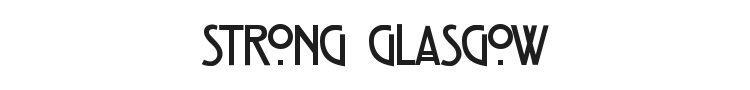 Strong Glasgow Font Preview