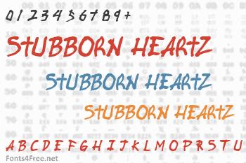 Stubborn Heartz Font