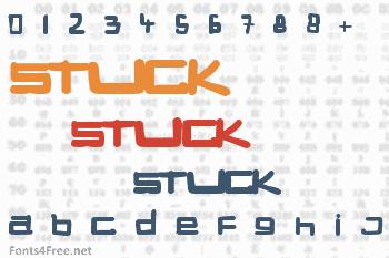 Stuck Font