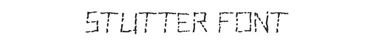 Stutter Font Preview