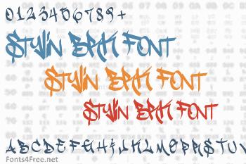 Stylin BRK Font