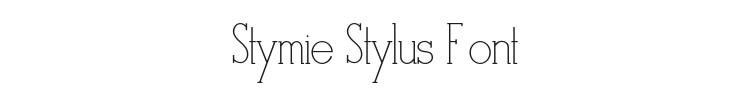 Stymie Stylus Font Preview