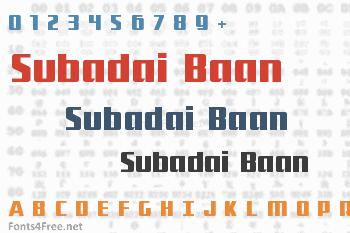 Subadai Baan Font