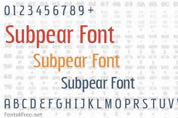 Subpear Font