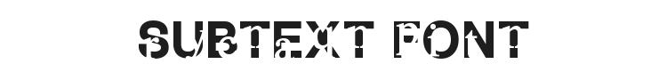 Subtext Font