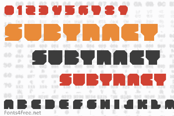 Subtract Font