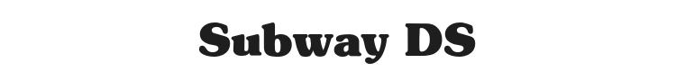 Subway DS Font Preview