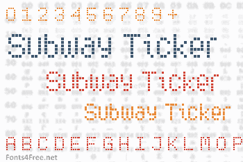 Subway Ticker Font