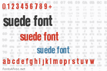 Suede Font