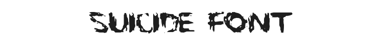 Suicide Font Preview