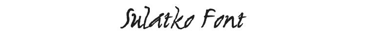 Sulatko Font Preview