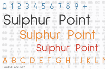 Sulphur Point  Font