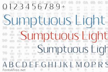 Sumptuous Light Font