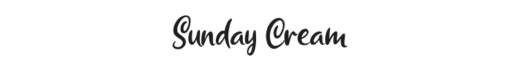 Sunday Cream Font