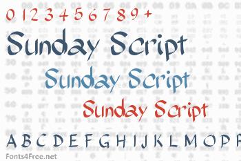 Sunday Script Font