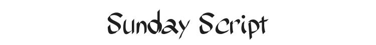 Sunday Script Font Preview