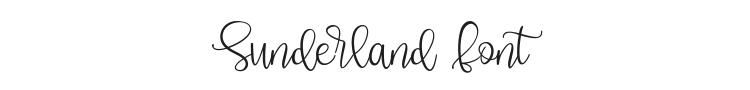 Sunderland Font Preview