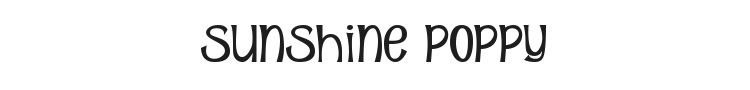 Sunshine Poppy Font Preview