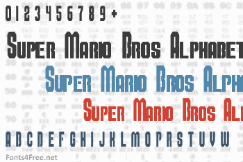Super Mario Bros Alphabet Font