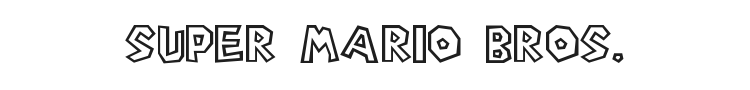 Super Mario Bros. Font Preview