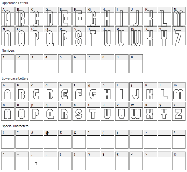 Super Plumber Bros Deluxe Font Character Map