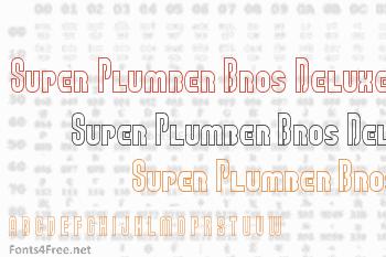 Super Plumber Bros Deluxe Font