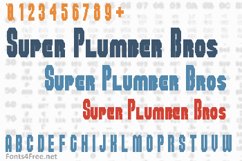 Super Plumber Bros Font