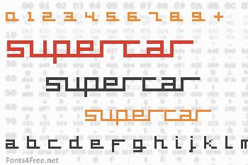 Supercar Font