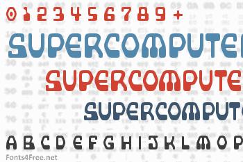 Supercomputer Font