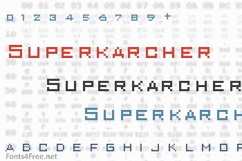 Superkarcher Font