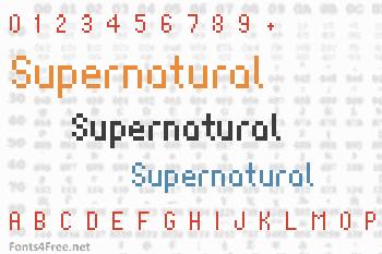 Supernatural Font