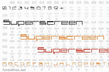 Superscreen Font
