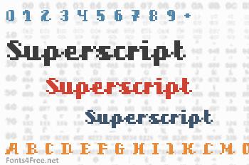 Superscript Font