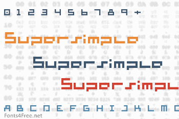 Supersimple Font