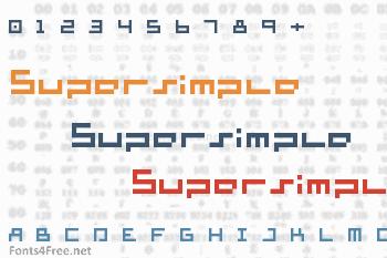 Supersimple Font
