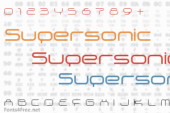 Supersonic Font