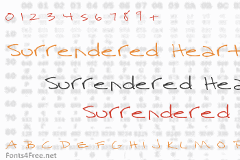 Surrendered Heart Font