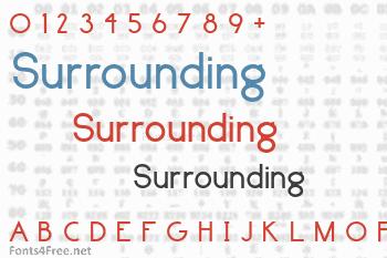 Surrounding Font
