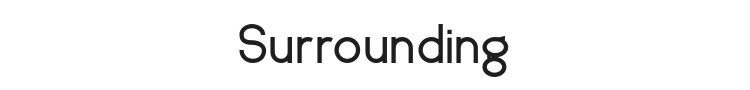 Surrounding Font Preview