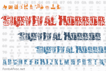 Survival Horror Font