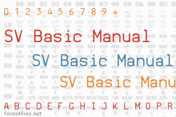 SV Basic Manual Font