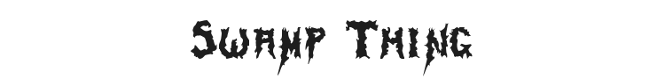 Swamp Thing Font Preview
