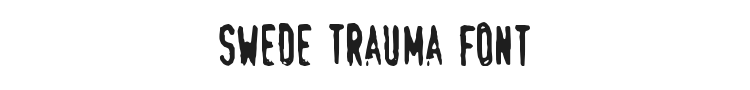Swede Trauma Font Preview
