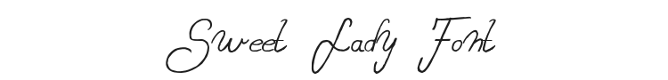 Sweet Lady Font Preview