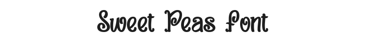 Sweet Peas Font Preview