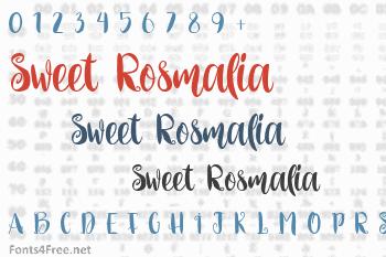 Sweet Rosmalia Font