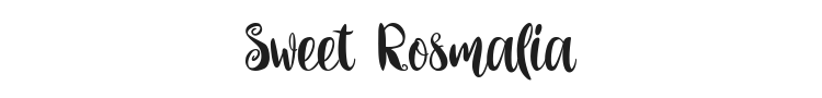 Sweet Rosmalia Font Preview