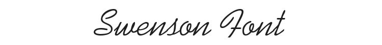 Swenson Font Preview